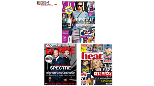 WIN: A Free Annual Magazine Subscription For Either; Empire, Grazia Or Heat
