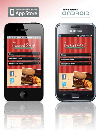 Frankie and Bennys Mobile App