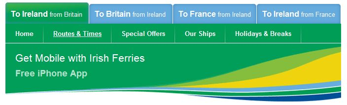Irish Ferries Mobile App