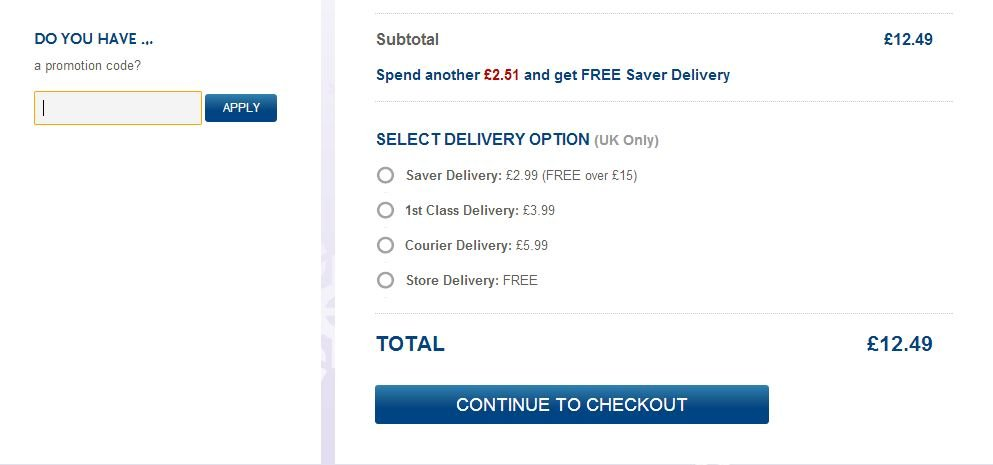 WHSmith checkout voucher