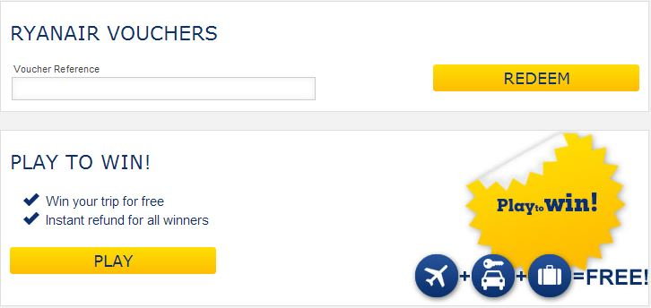 ryanair checkout voucher