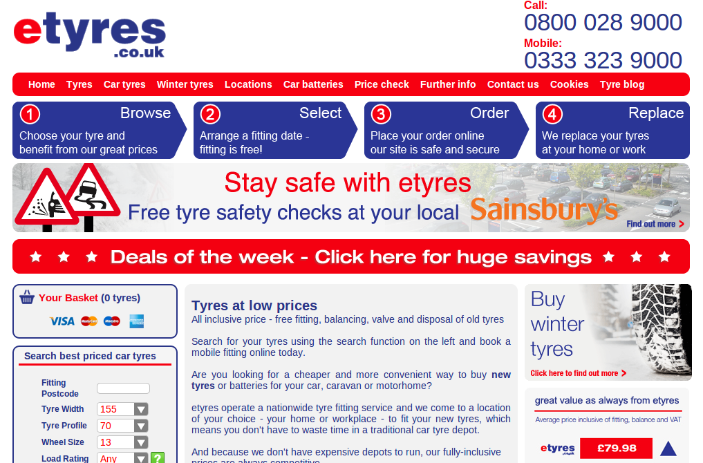 Tyre Shopper guaranteed Tyre Prices to be Cheaper than anywhere else! We beat Kwik-fit, eTyres, Mytyres and Blackcircles.