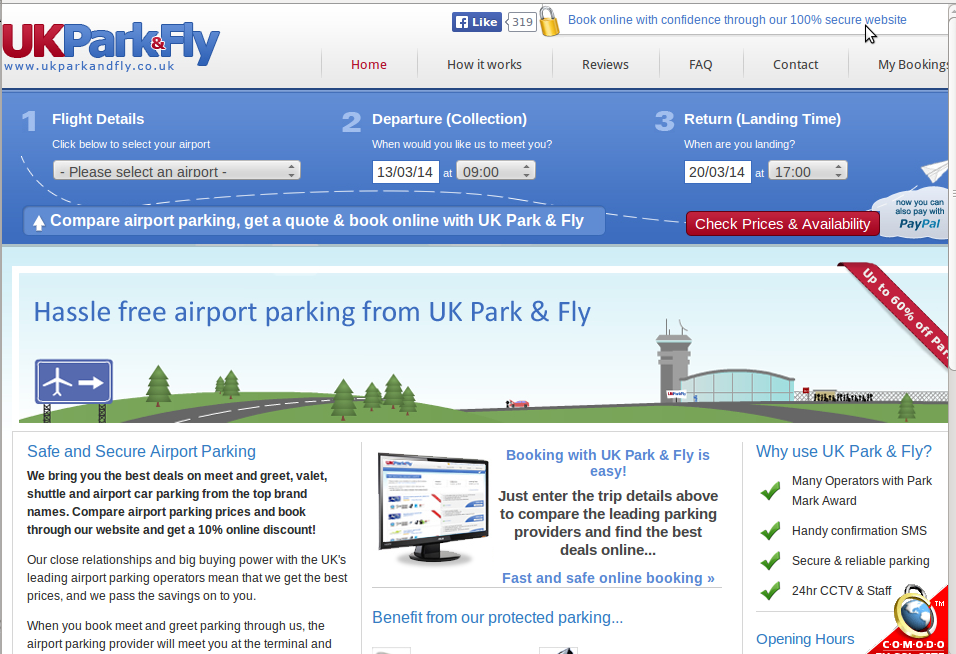 Park and fly coupon code