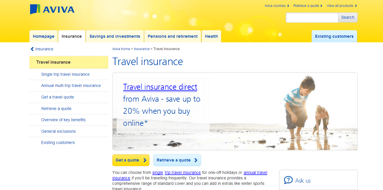 Travel Insurance Quotes Aviva Travel Insurance Quote  Raipurnews