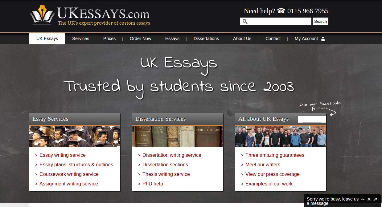 Custom essays uk