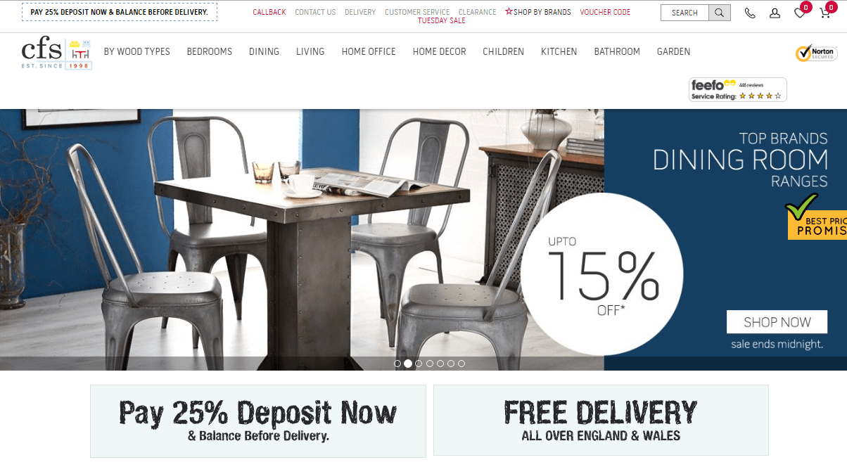 Choice Furniture Superstore Voucher Homepage