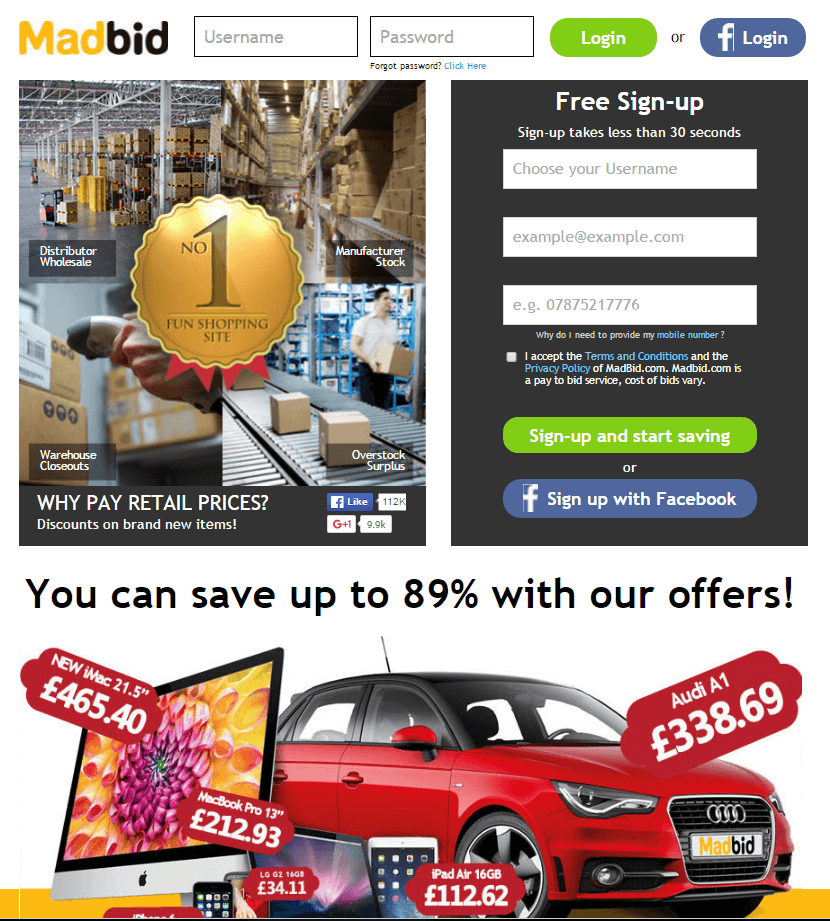 For MadBid we currently have 2 coupons and 6 deals. Our users can save with our coupons on average about $ Todays best offer is Voucher code. If you can't find a coupon or a deal for you product then sign up for alerts and you will get updates on every new coupon added for MadBid.