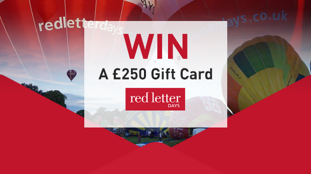 WIN A £250 Gift Card With Red Letter Days