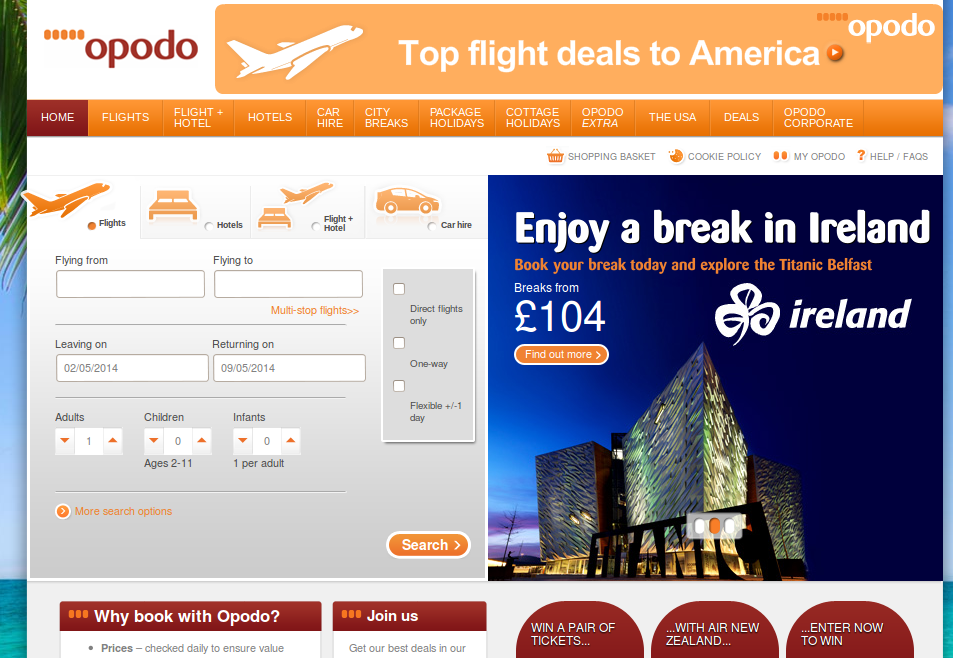 Dec 09, · How to Use Your Opodo Promo Codes. When you know where your next trip will take you, take a look at our current selection of Opodo vouchers to decide which one will save you the most. Once you know, click the 'see code' button next to the voucher description to bring up a small pop-up window containing your code.