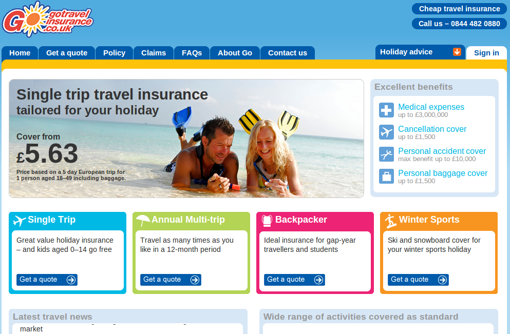 Travel insurance coupon code