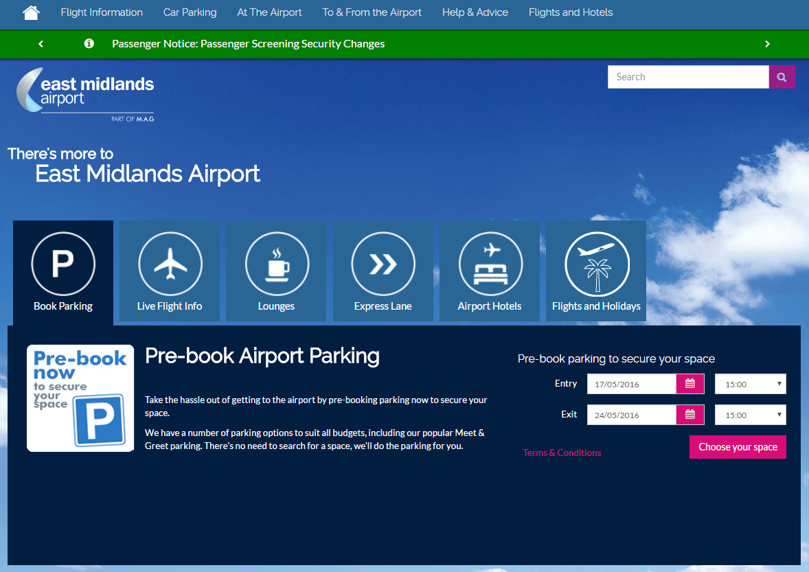 East midlands airport car park promo codes voucher codes 40 east midlands airport promo codes homepage image kristyandbryce Gallery