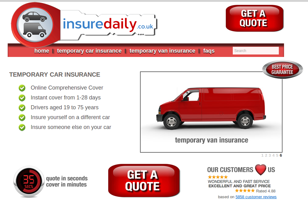 Daily Car Insurance Cover Uk