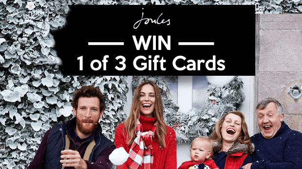 WIN 1 of 3 Gift Cards With Joules