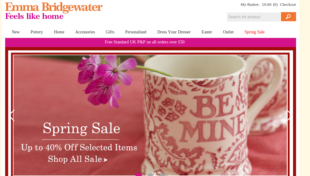 For Emma Bridgewater Pottery we currently have 2 coupons and 45 deals. Our users can save with our coupons on average about $ Todays best offer is Up to 50% off Selected Sale Items at Emma Bridgewater.