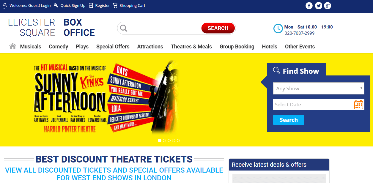 leicester square box office promotion code