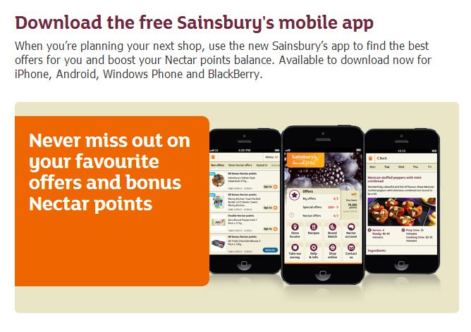 Sainsburys Mobile App
