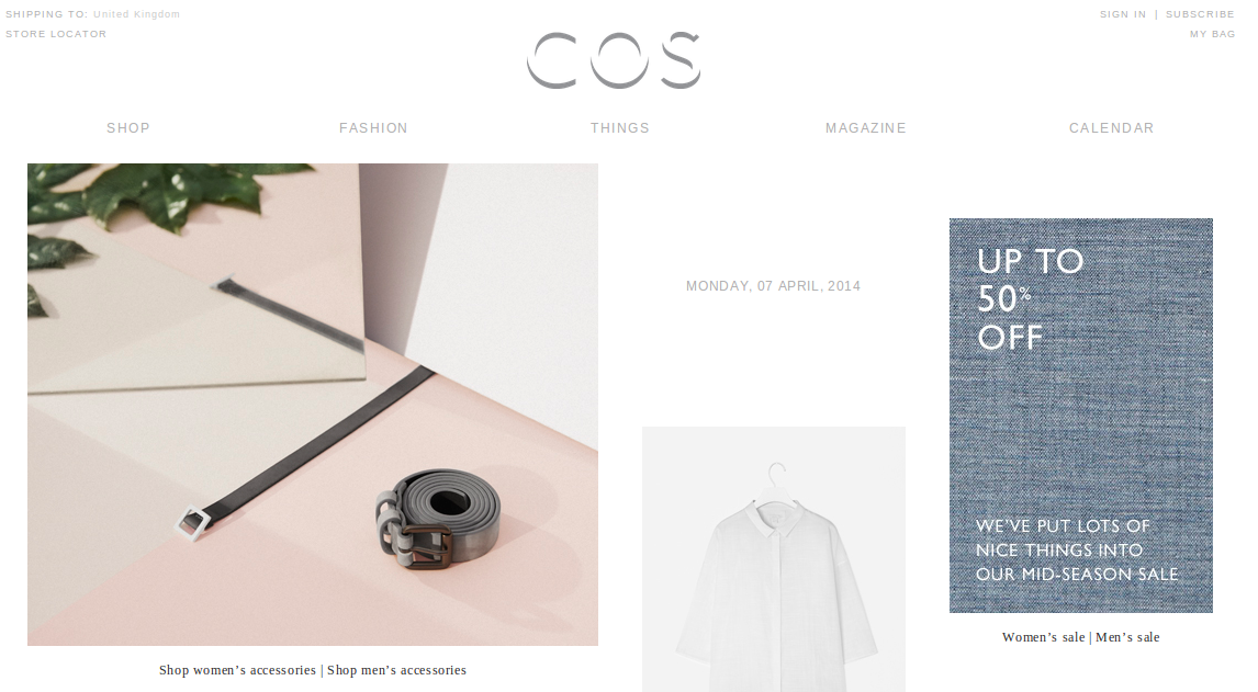 COS is a major fashion retailer which operates the website 100loli.tk As of today, we have 1 active COS promo code, 1 sale and 4 third-party deals. The Dealspotr community last updated this page on November 26, /5(28).
