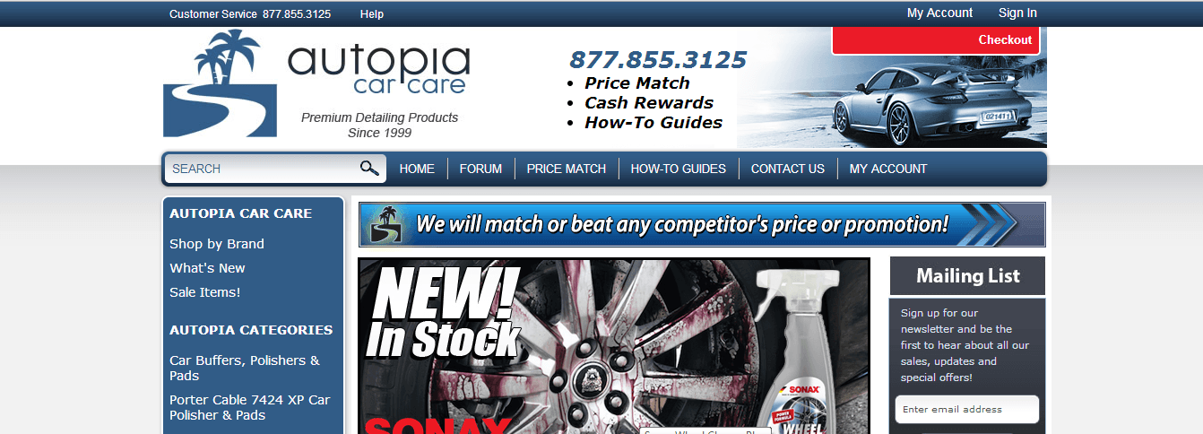 Autopia Car Care offers promo codes often. On average, Autopia Car Care offers 16 codes or coupons per month. Check this page often, or follow Autopia Car Care (hit the follow button up top) to keep updated on their latest discount codes. Check for Autopia Car Care's promo code exclusions.