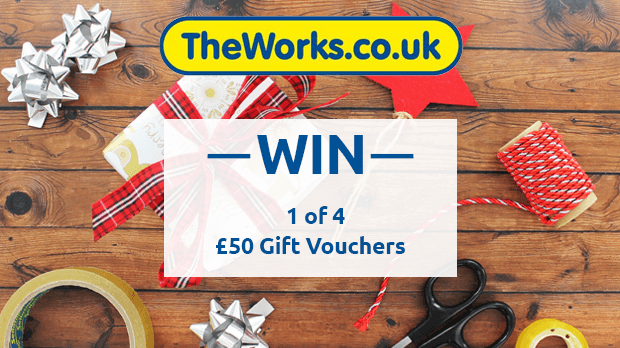 WIN 1 of 4 £50 Gift Vouchers With The Works