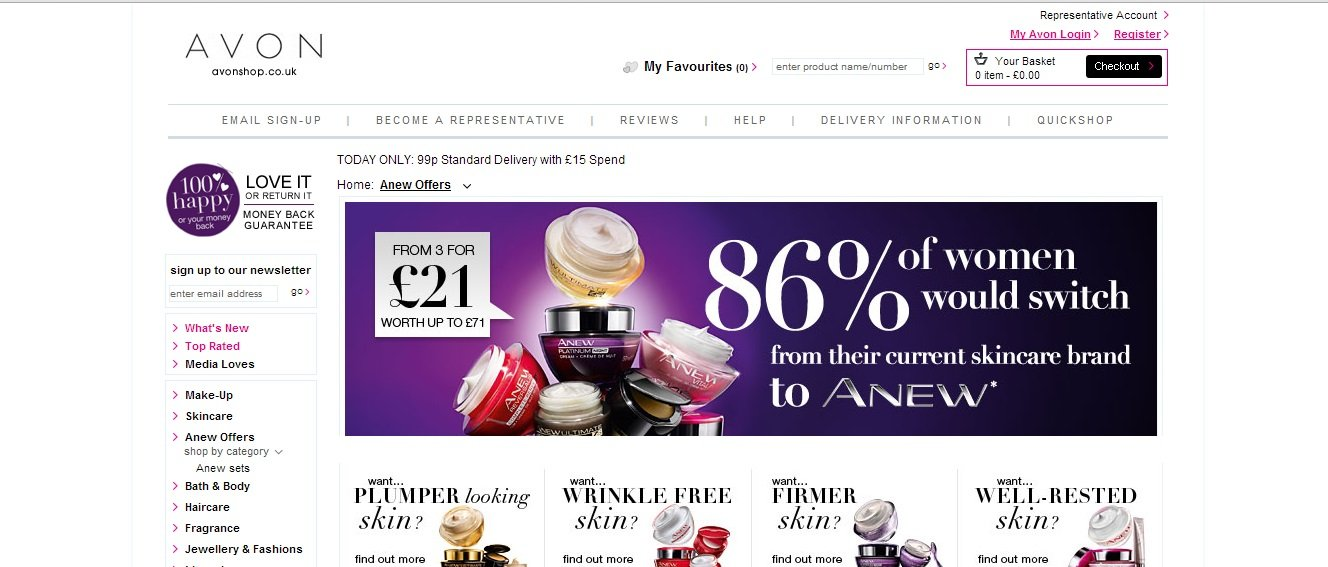 Avon Shop Discount Code Cyber Monday – Free Standard Delivery With £10 Spend.