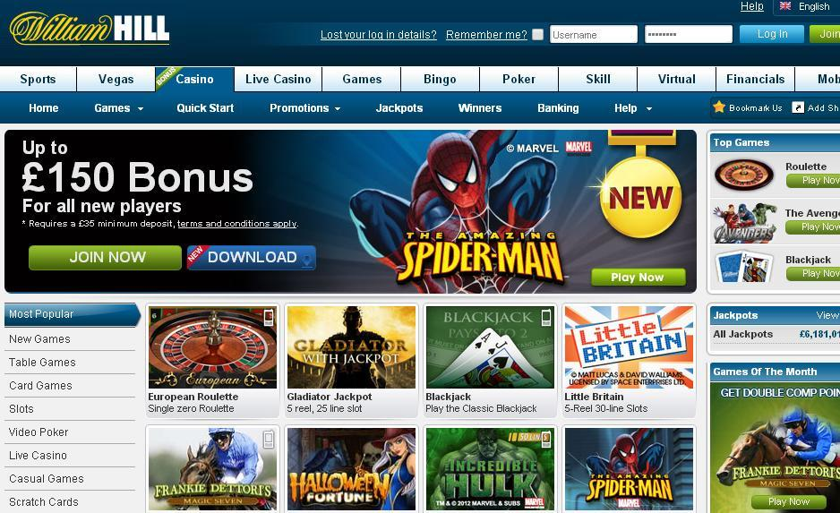 william hill online slots novo games online