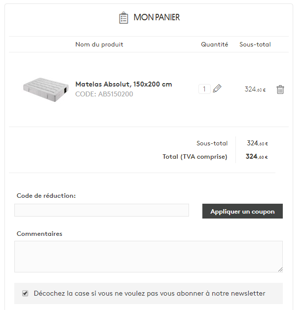 insertion code promo Kavehome