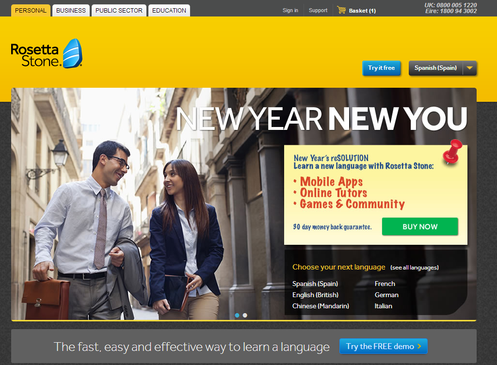 Rosetta stone coupon code discount