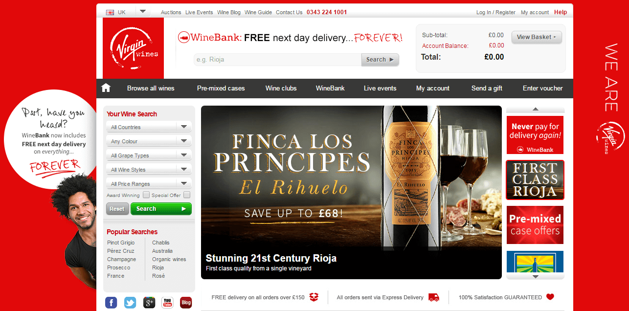 Virgin Wines, an award winning online drink retailer, offers a vast selection of wine, from which customers can pick and choose. Buyers can find Virgin Wines' regularly-released discount codes .