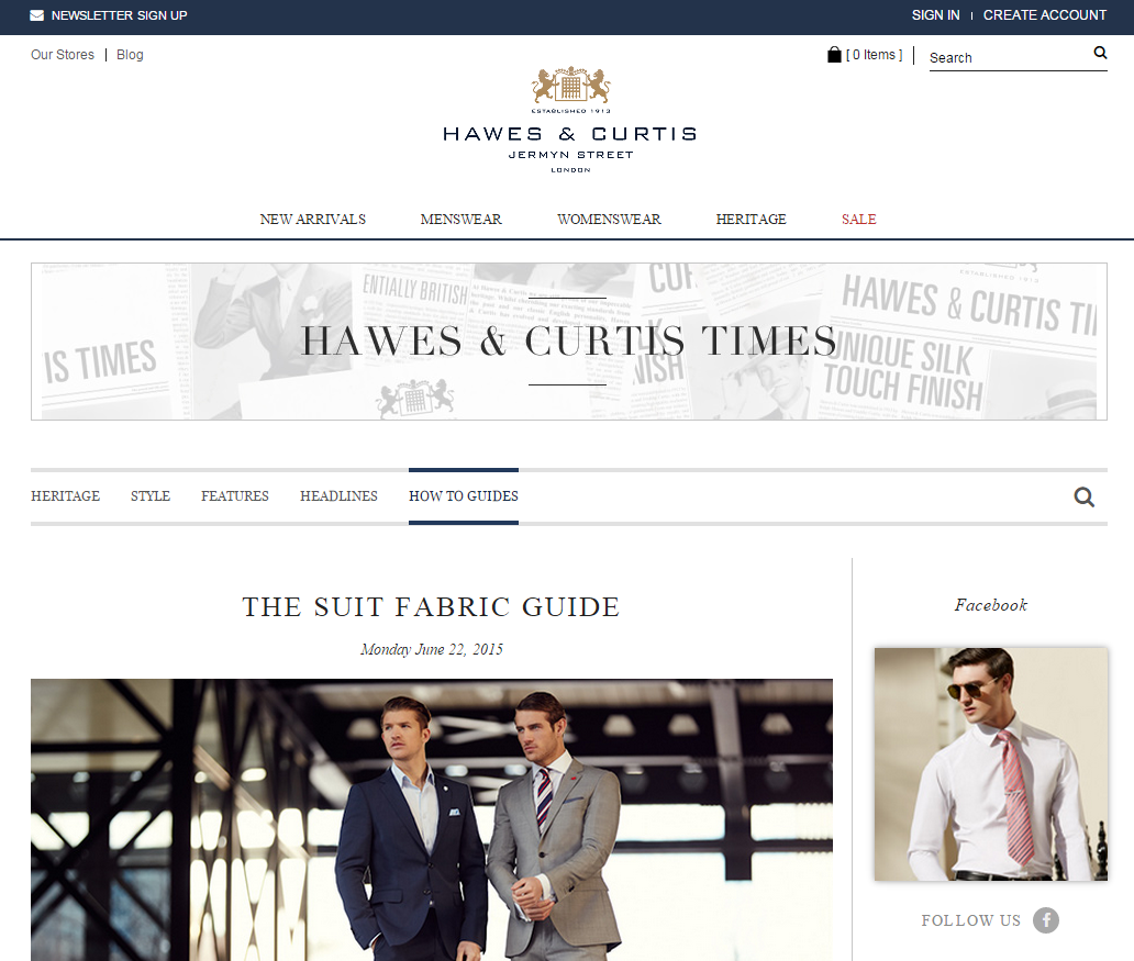Then let Hawes & Curtis craft that dream for you. Hawes & Curtis specialize in tailored suits, shirts and other formal attire, made using traditional methods that have kept the Hawes & Curtis .