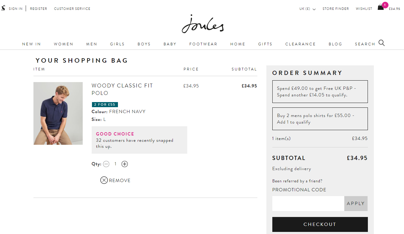 joules promo code