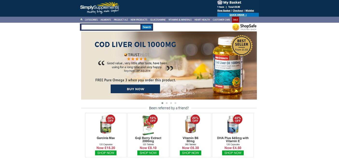 For Simply Supplements we currently have 1 coupons and 7 deals. Our users can save with our coupons on average about $ Todays best offer is Save ON SimplyGo AT Simply Supplements. If you can't find a coupon or a deal for you product then sign up for alerts and you will get updates on every new coupon added for Simply Supplements.