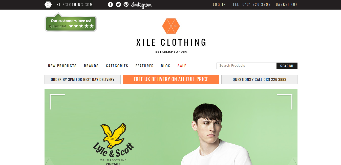 Coupon xile clothing