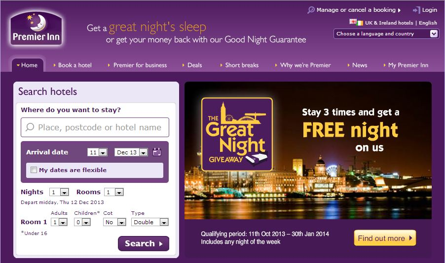 Discount coupons premier inn global