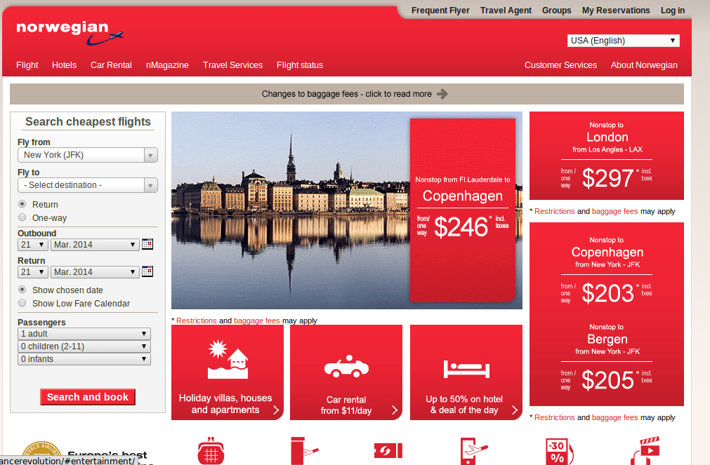 Norwegian Air Voucher & Promo Codes December Norwegian Air is low-cost Scandinavian airline. In fact, Norwegian Air is the second biggest and third cheapest airline in Europe.
