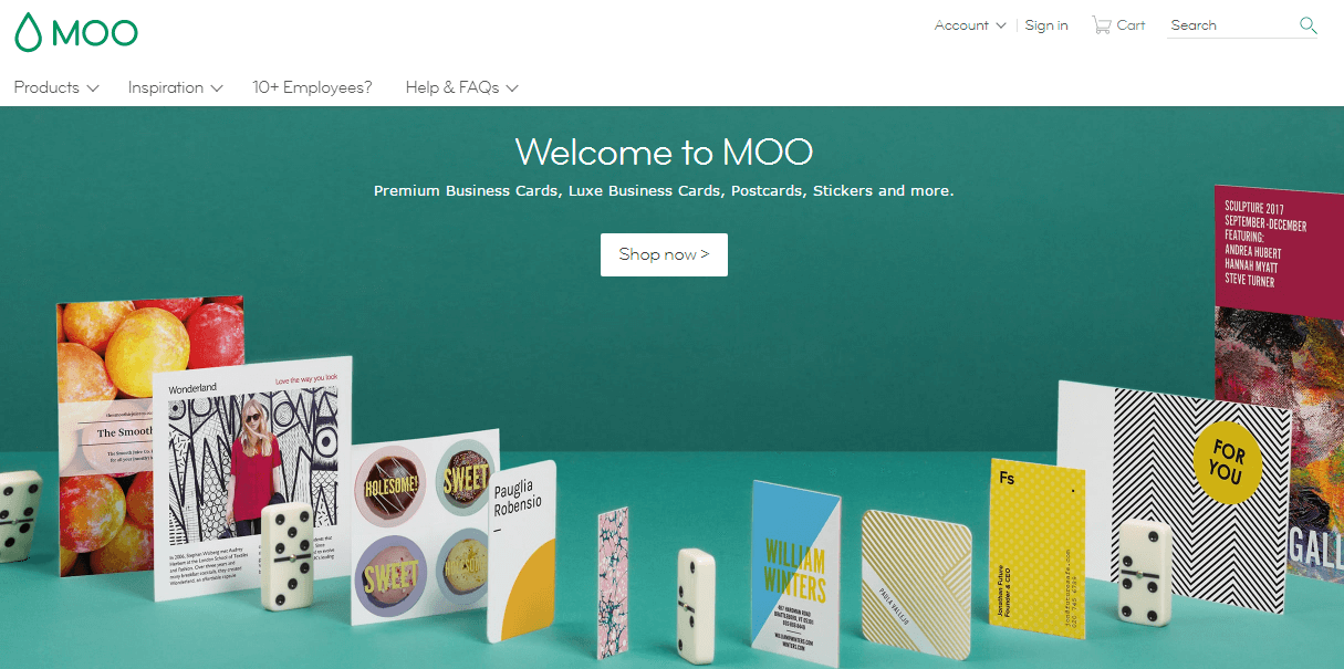 MOO Discount Promo Codes - 15% Off | My Voucher Codes
