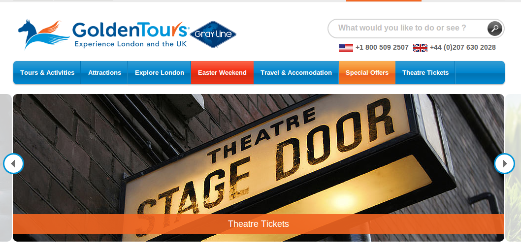 Popular Offers and Discounted Tours. Get the best deals Golden Tours has to offer, browse the bestsellers and most popular UK tours. Our incredible range of activities, attractions and tours in London and the UK include the best day trips from London and all the top London tourist attractions.