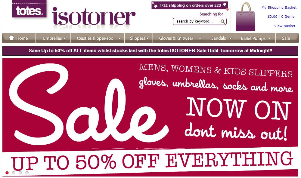 Totes isotoner coupons codes