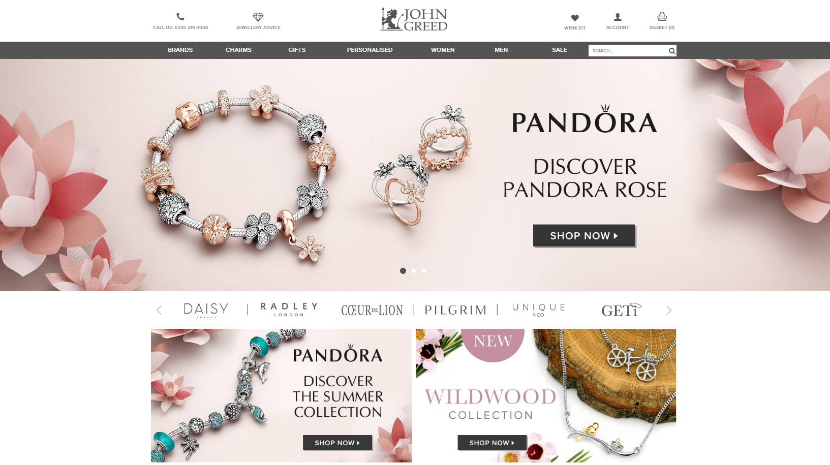 John Greed Pandora Discount Code