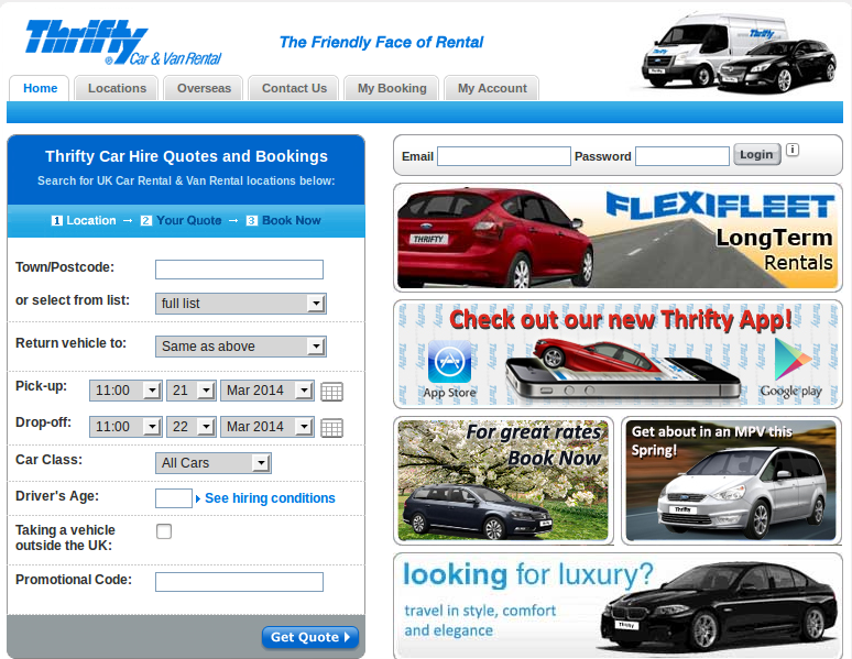Thrifty car rental discount coupons