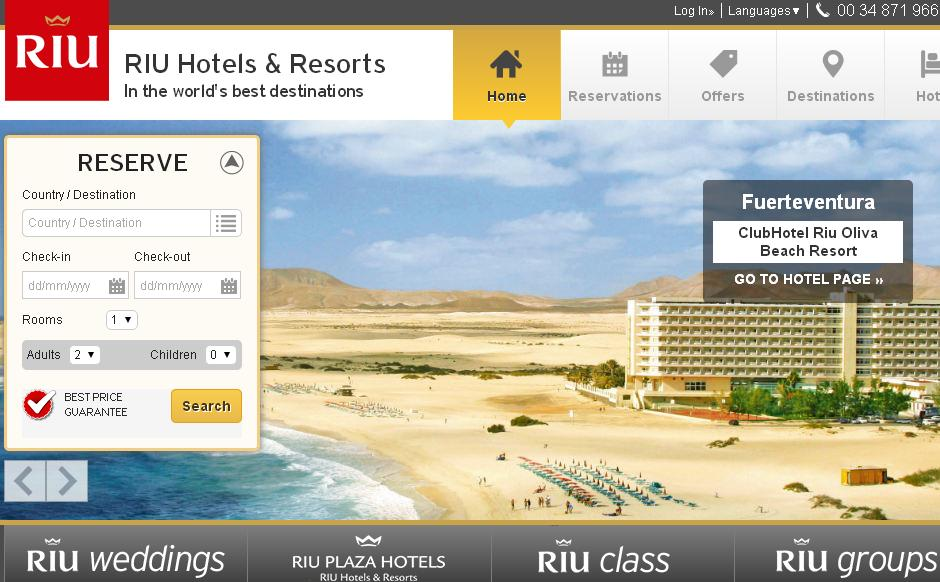 RIU is currently the world's 30th ranked chain, one of the Caribbean's most popular and the fourth largest in Spain. Be sure to get extra savings on all your purchases by taking advantage of Riu Hotels coupon codes, special promotions and unbeatable rates.