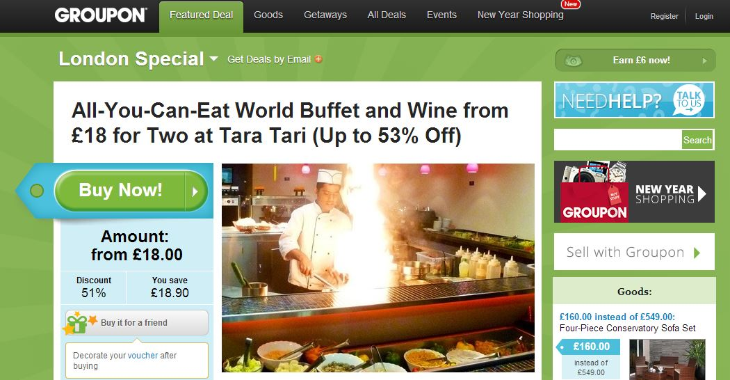 Groupon deals uk