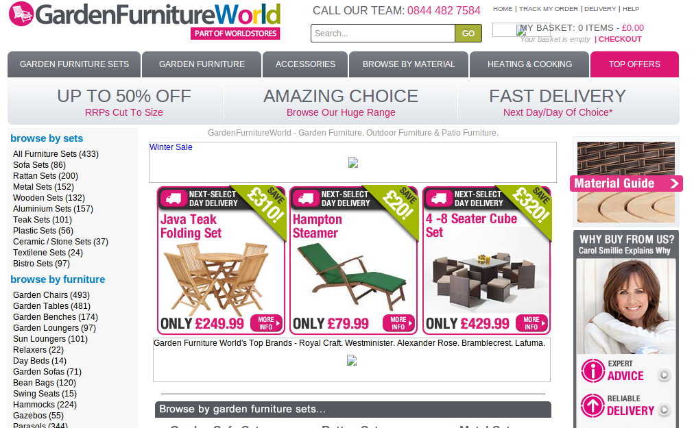 More information about GardenFurnitureWorld  The Garden Furniture World. GardenFurnitureWorld Voucher Codes   Discount Codes   Free Delivery