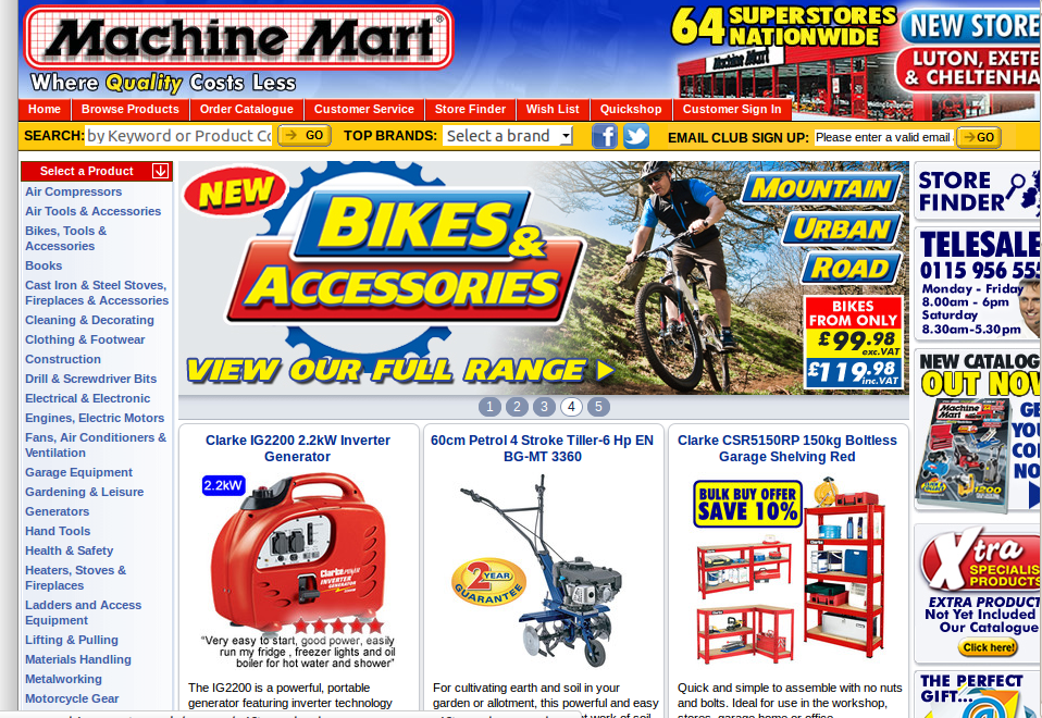 More About Machine Mart Machine Mart cherishes strong friendly relations with a number of renowned manufacturers including Bosch, Clarke, Dewalt, Evolution, Honda, Laser, Makita, Stanley and many more others so it can provide you a huge range of power tools at great thrifty prices.5/5(1).