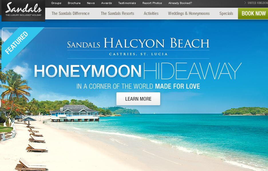 Once you find a coupon code you want to apply to your booking, you should be able to click through a link that will take you to a booking page on the Sandals Resorts where your discount and promotion as already been applied to your total.