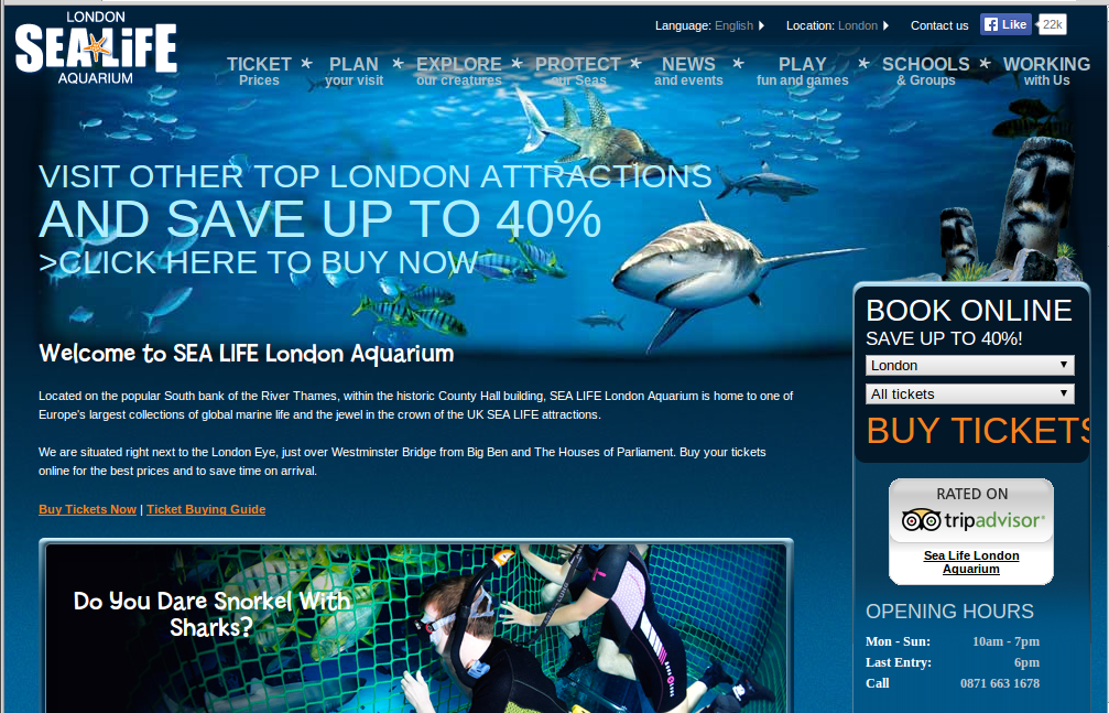 Sea Life Aquarium Tickets London Best Accent Chairs And Aquarium