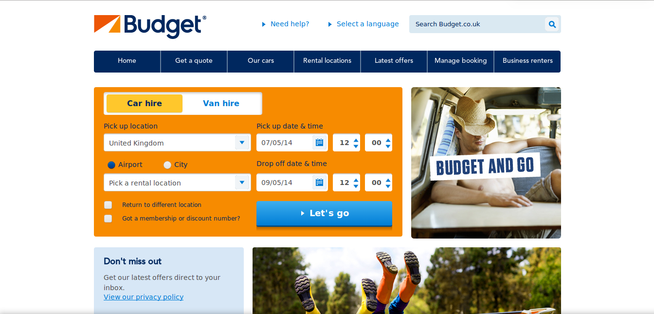 Budget rent a car coupon code canada
