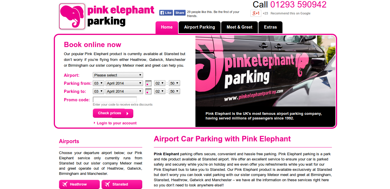 Pink elephant parking voucher codes discount codes 60 off more information about pink elephant parking kristyandbryce Gallery