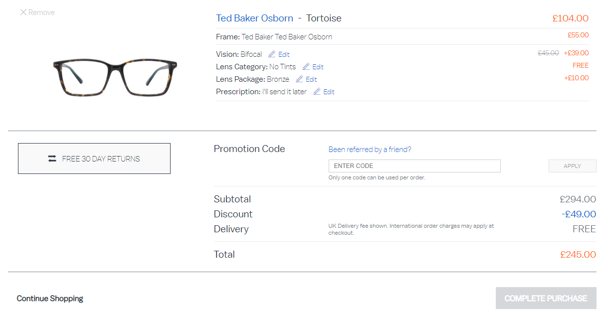 Glasses Direct discount code