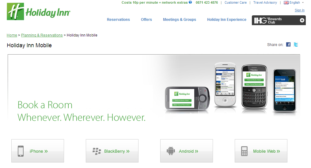 holiday inn mobile app