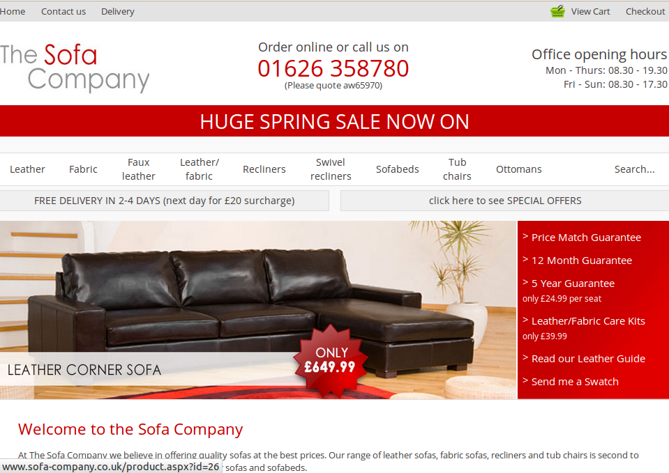 More Information About The Sofa Company